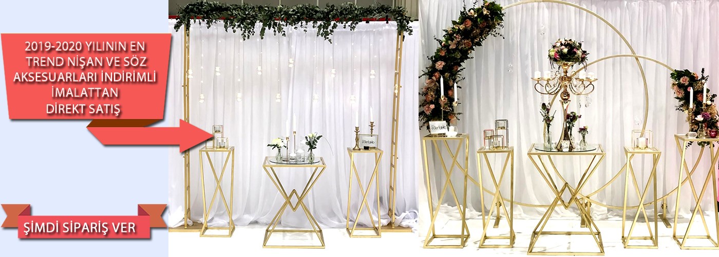 Düğün Nişan Arka fon Demirleri