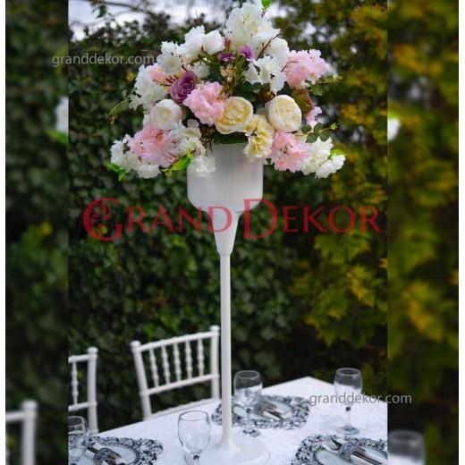 Dekoratif Beyaz Düğün Vazosu - Çiçeklik