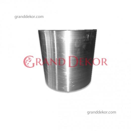Gümüş Metal Saksı 25 CM