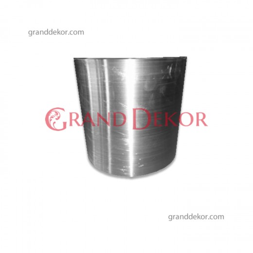 Gümüş Metal Saksı 35 CM