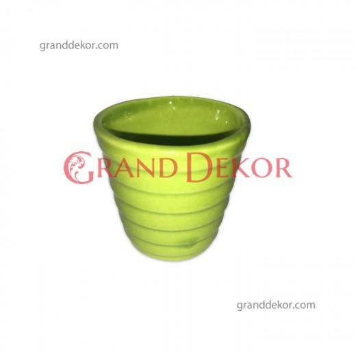 Mini Seramik Kaktüs Saksısı - Yeşil