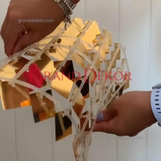 Işıltılı Pullu Payet Arka Fon Paneli (Gold)