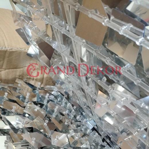 Işıltılı Pullu Payet Arka Fon Paneli (Gümüş)
