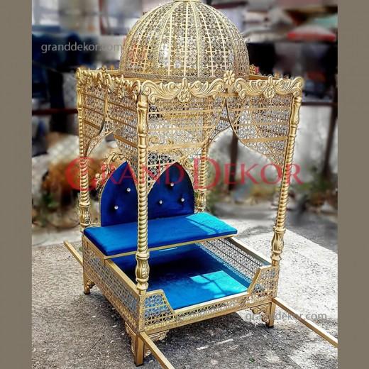 Sünnet Tahtı Tahtırevan Taşıma Demirli Kubbeli GOLD