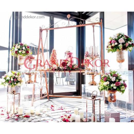 Metal dekoratif sabit ve sallanır  karşılama masası