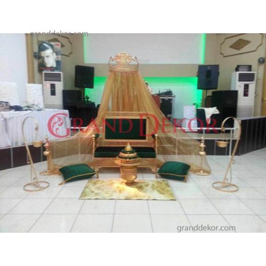 Osmanlı Yeşili Kına Tahtı Modelleri  S08