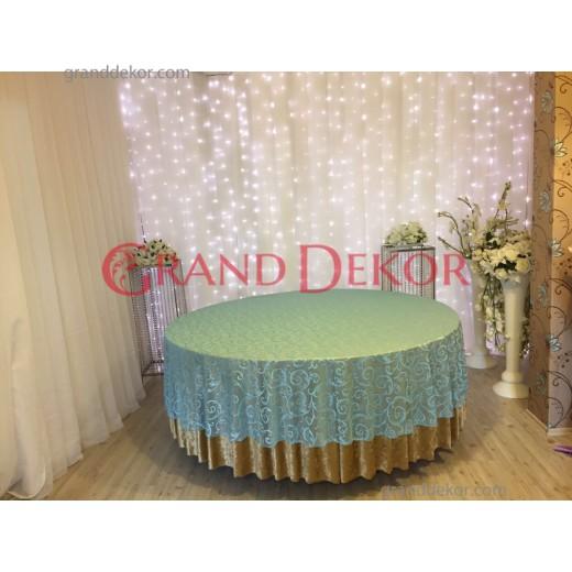 Mavi Dantel Masa Örtüsü