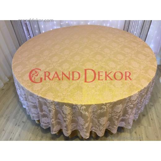 Dantel Sarı Masa Örtüsü