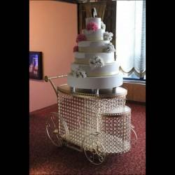 Büyük Taşlı Pasta Servis Arabası