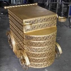 Pasta Servis Arabası Altın Serisi Papatya