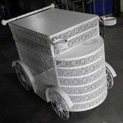 Pasta Arabası Papatya Beyaz