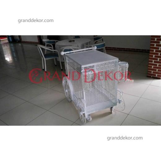 Beyaz Pasta Arabası 04