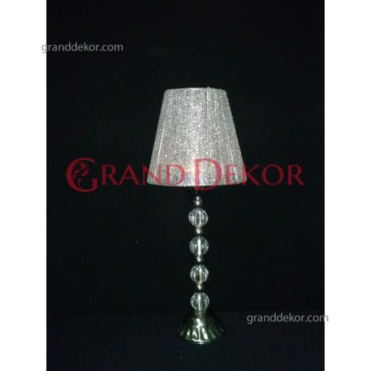 Simli Gümüş Abajur Şamdan