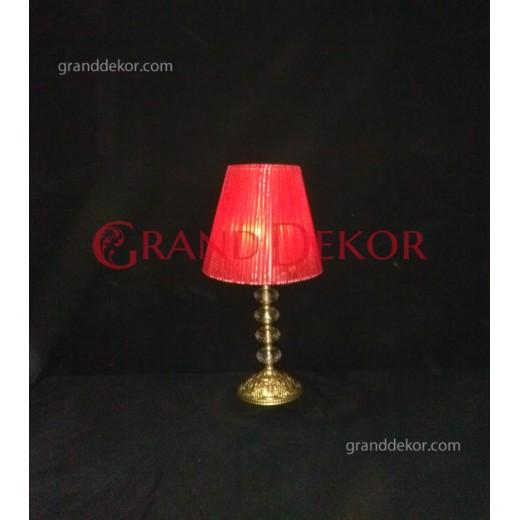 Kırmızı mini abajur şamdan