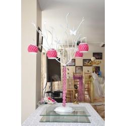 Ağaç Şamdan Pembe Taşlı
