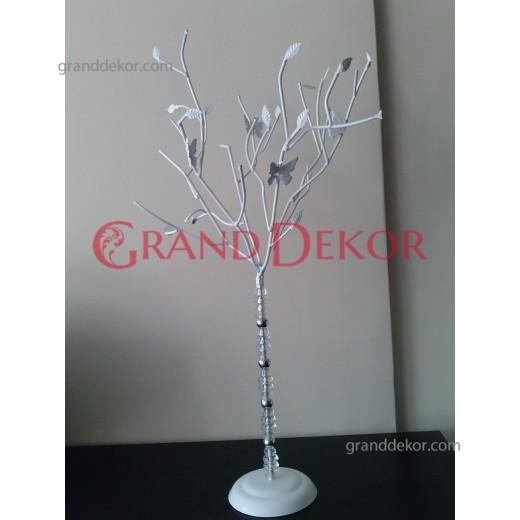Ağaç Şamdan Kristal Taş Gövdeli