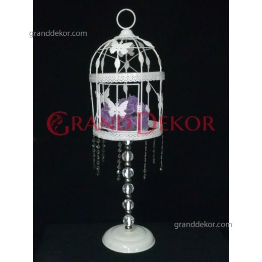 Kuş Kafesi Şamdan Beyaz