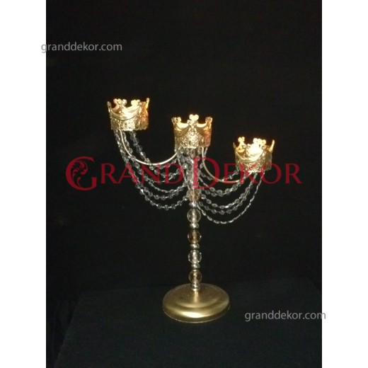 Üç Kollu Kayra Şamdan Altın