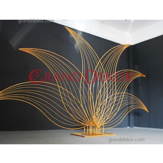 Metal Lale Desen - Arka fon Demiri