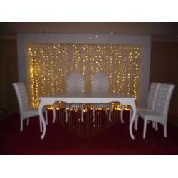 Düğün Masası Led ışıklı Arka fon