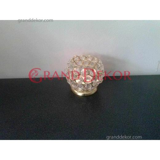 Kristal taşlı Sarı Mumluk