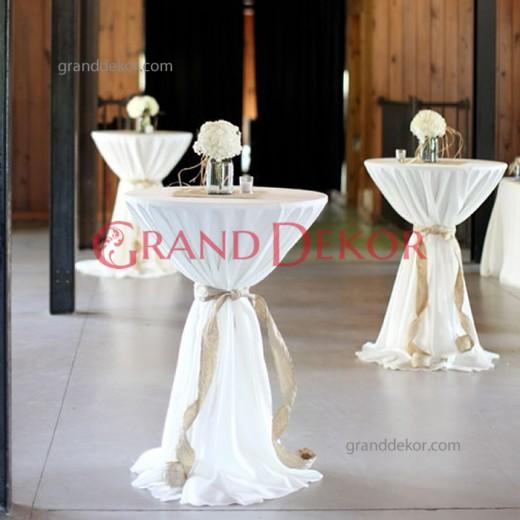 Kokteyl Masa Örtüsü beyaz