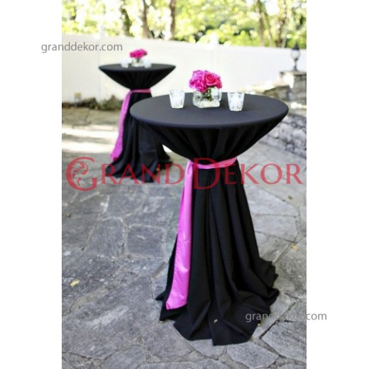 Kokteyl Masa Örtüsü Siyah
