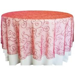 Masa Örtüsü Kırmızı Dantel Kapak