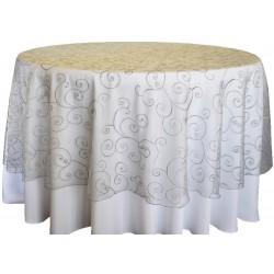 Masa Örtüsü Gümüş Dantel Kapak