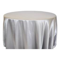 Saten Masa Örtüsü Gümüş