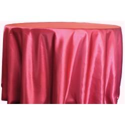 Saten Masa Örtüsü Kırmızı