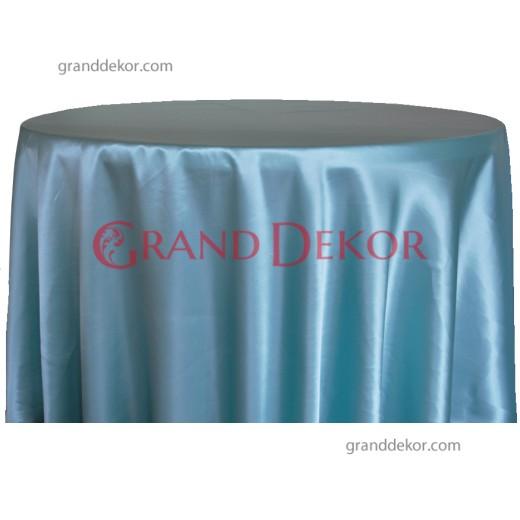 Saten Masa Örtüsü Havuz Mavisi